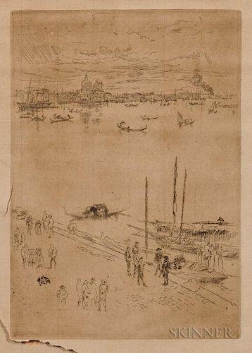 James Abbott McNeill Whistler (American, 1834-1903)  Upright Venice
