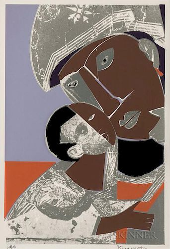 Romare Bearden (American, 1911-1988)  Mother and Child