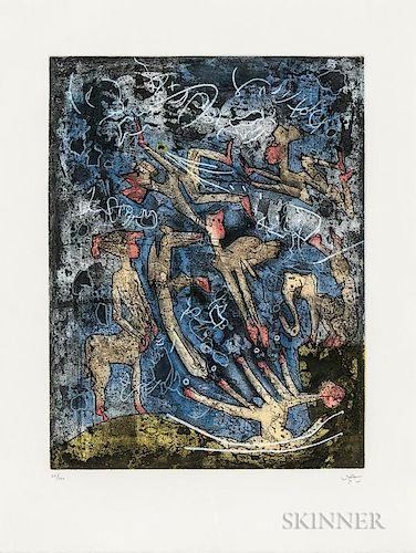 Roberto Sébastian Matta (Chilean, 1911-2002)  L'Âme de tarot thélème  /A Portfolio of Five Works