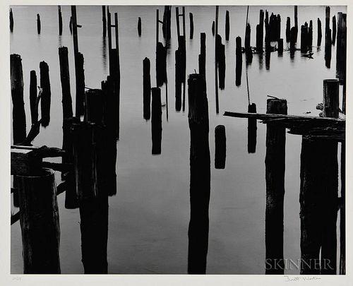 Brett Weston (American, 1911-1993)  Wharf Piles
