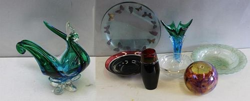 Large Grouping Of Midcentury & Other Art Glass