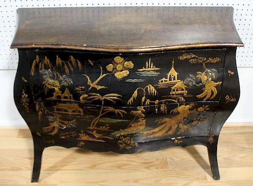 Antique Lacquered and Chinoiserie Decorated