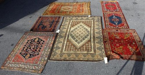 Lot of 6 Antique Area Rugs In Assorted Sizes.