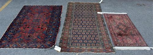 Lot of 3  Antique Area Rugs.