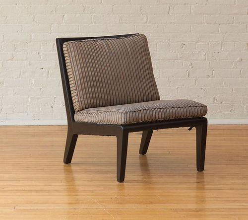 MID CENTURY MODERN STYLE STAINED BIRCH LOUNGE CHAIR