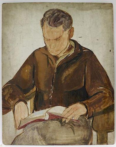 American Ashcan School O/B Realist Painting of Man