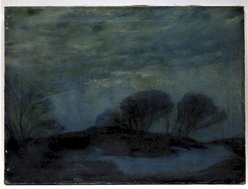 Joseph Davol Nocturnal Maine Landscape Painting