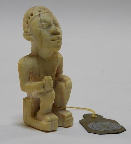 African Bakongo Ivory Finial Figure Ex. Sotheby's