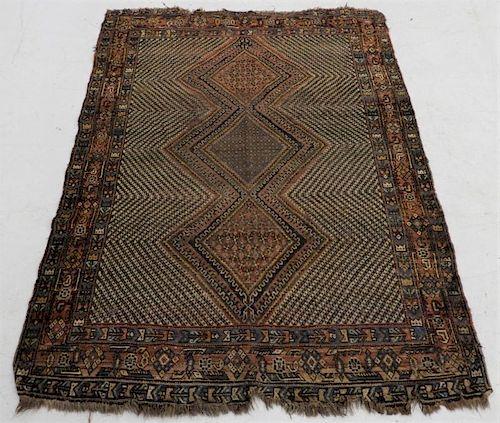 Antique Persian Afghan Wool Carpet Rug