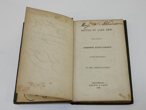 C.1939 Tristam Burges Battle of Lake Erie Book