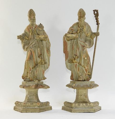 PR European Christian Icon Cardinal Wood Figures