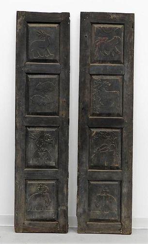 PR Southeast Asian Animal Carved Doors