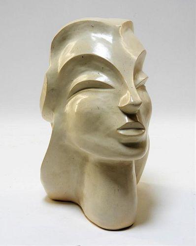 Aft Brancusi Modernist Pottery Muse Head Sculpture