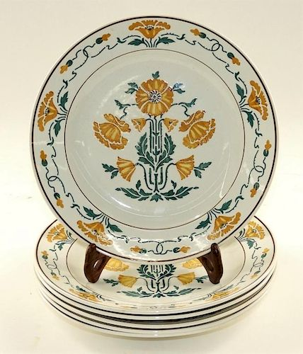 Set 6 Villeroy & Boch Secessionist Floral Plates