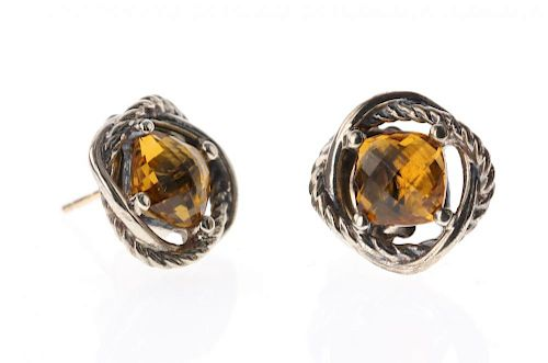 e3247fb43cea5 David Yurman Sterling Silver Vintage Citrine Infinity Earrings by ...
