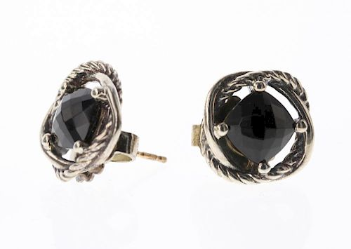 b87434dbadef6 David Yurman Sterling Silver Vintage Black onyx Earrings by Billy ...