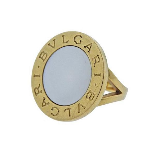 Bvlgari Bulgari 18k Gold Mop Ring By Hampton Estate Auction