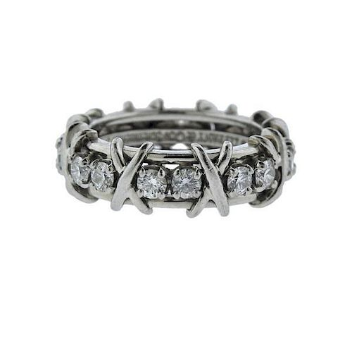 6f711f2eb Tiffany & Co Schlumberger Gold Platinum Diamond X Ring by ...