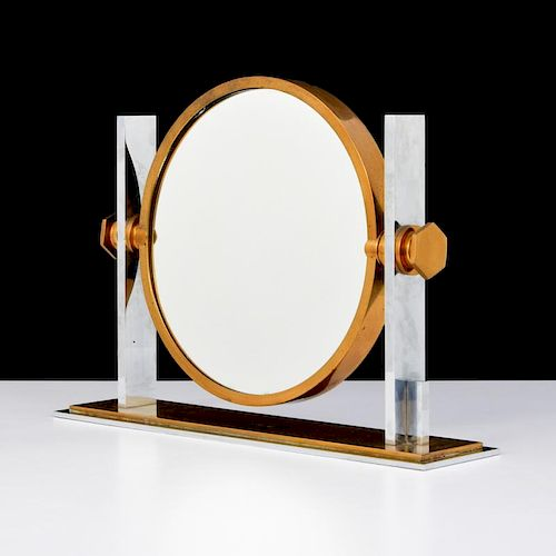 Karl Springer Double-Sided Table Mirror