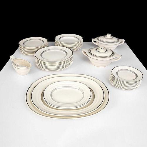 Keith Murray MOONSTONE Dinnerware Set, 51 Pieces