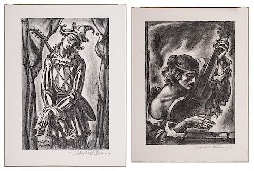Umbert Romano (Italian-American, 1905-1984), Two Lithographs