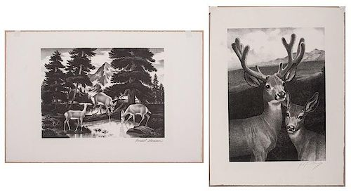 George Ford Morris (American, 1873-1960) and Russell Sherman (American,20th century), Two Lithographs