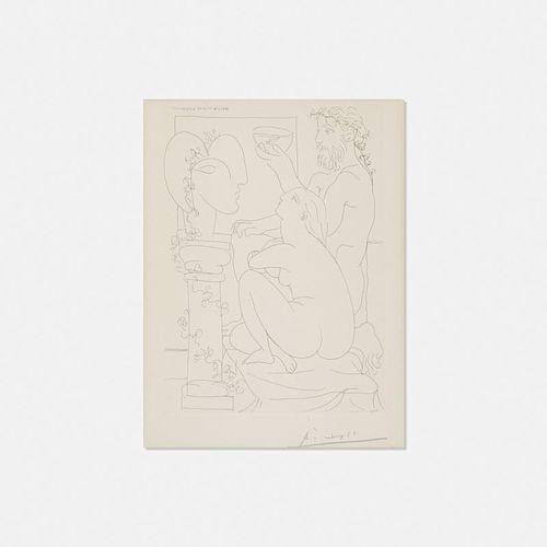 Pablo Picasso, Sculpteur avec Coupe et Modee accroupi from La Suite Vollard