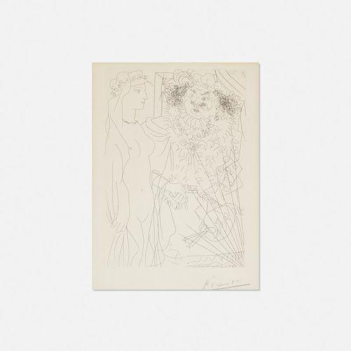 Pablo Picasso, Rembrandt et Femme au Voile from La Suite Vollard