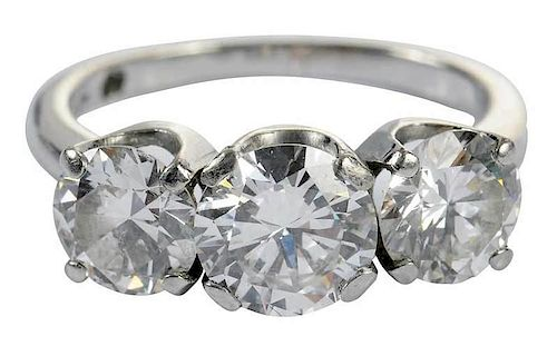 Platinum & Diamond Three Stone Ring