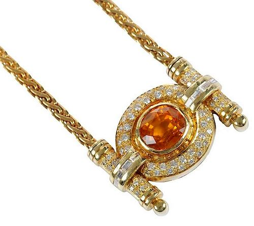 18kt. Sapphire & Diamond Necklace