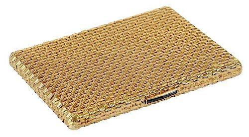 18kt. Woven Cigarette Case