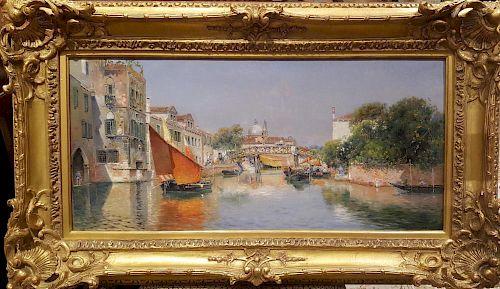 Antonio Maria de Reyna (1859-1937) Venice Painting