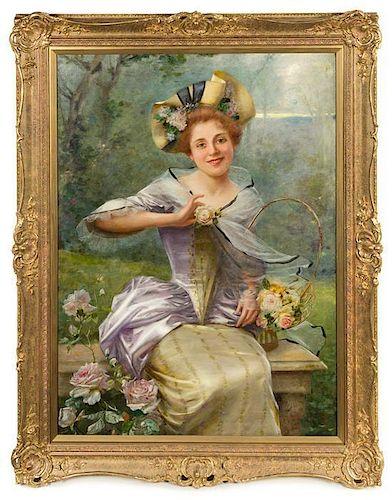 * Oreste Costa, (Italian, 1851-1901), Girl with Flowers
