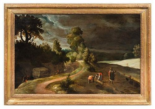 Attributed to Lucas van Valckenborch, (Flemish, 1535-1597), Paysage