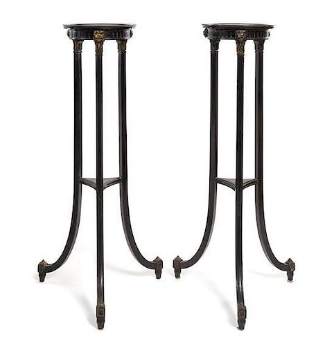A Pair of Neoclassical Style Pedestals Height 41 inches.