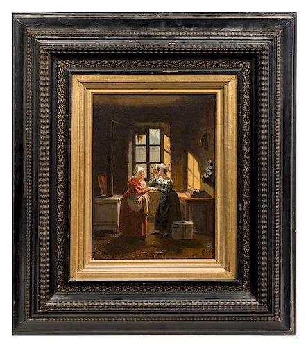 * Jean-Baptiste Lecoeur, (French, 1795-1838), Two Women Near a Window, 1829
