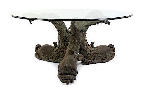 An Empire Style Cast Metal Figural Table Height 17 inches.
