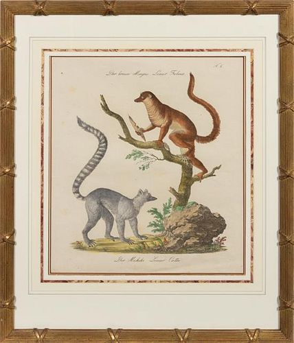 A Set of Eight Animalier Prints 16 3/4 x 13 1/2 inches.