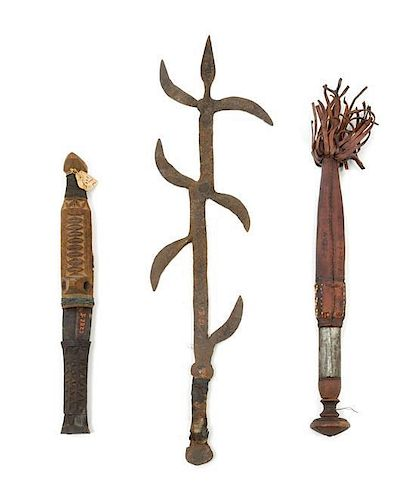 * A Sudanese Steel Weapon Length of weapon 17 1/2 inches.