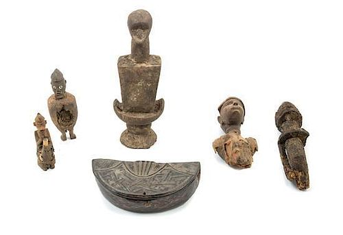 * A Group of Wood Figural Articles Height of tallest 16 5/8 inches.