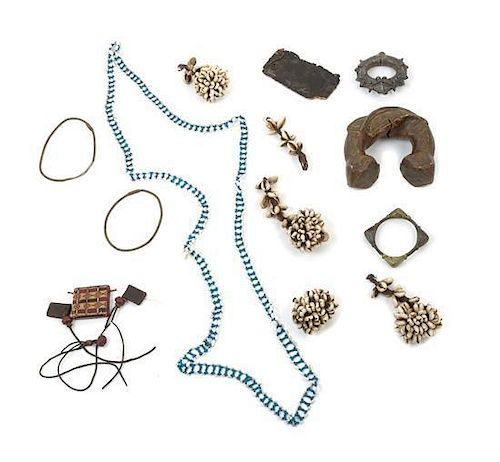 * A Collection of African Jewelry Width of first 6 3/4 inches.