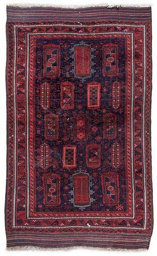 A Northwest Persian Wool Rug 9 feet 3 inches x 5 feet 11 inches.