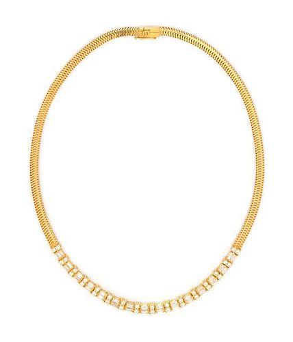 * An 18 Karat Yellow Gold and Diamond 'Les Classiques' Necklace, GEMLOK, 32.00 dwts.