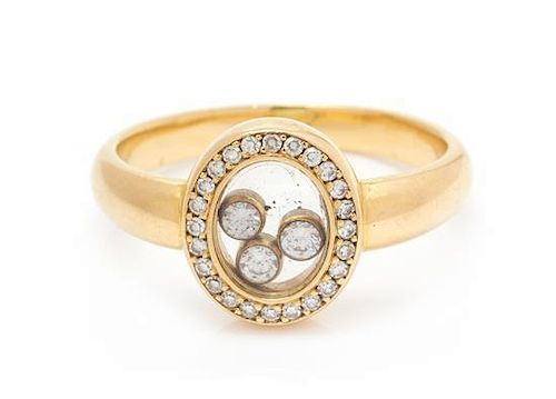 An 18 Karat Yellow Gold and Diamond 'Happy' Ring, Chopard, 4.10 dwts.