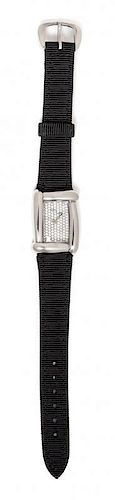 A Stainless Steel and Diamond 'Medea' Wristwatch, Dunay,