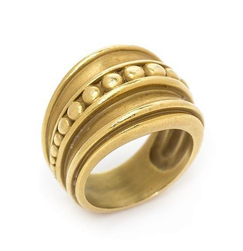* An 18 Karat Yellow Gold Ring, Kieselstein-Cord, 9.60 dwts.