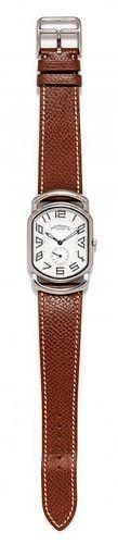 A Stainless Steel Ref. RA1.810 'Rallye' Wristwatch, Hermes, Circa 2003,