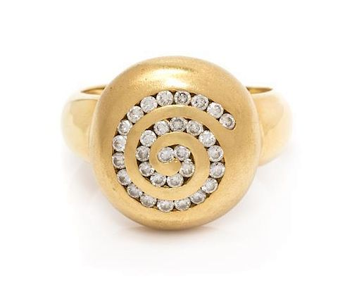 A Yellow Gold and Diamond Ring 14.90 dwts.