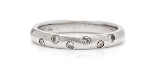 A 14 Karat White Gold and Diamond Ring, Larter & Sons, 2.10 dwts.