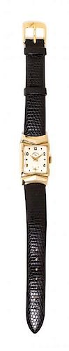 A 14 Karat Yellow Gold Ref. 4529 Wristwatch, Lord Elgin,